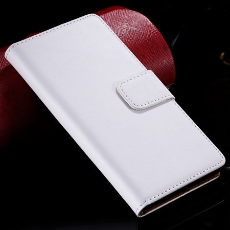 For Sony Z3 Flip Case Vintage Genuine Leather Case For Sony Xperia 32278870714-2-White