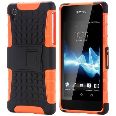 Z2 Unique Vintage Slip-Proof Pc Hard Back Case For Sony Xperia Z2  32270863006-5-Orange
