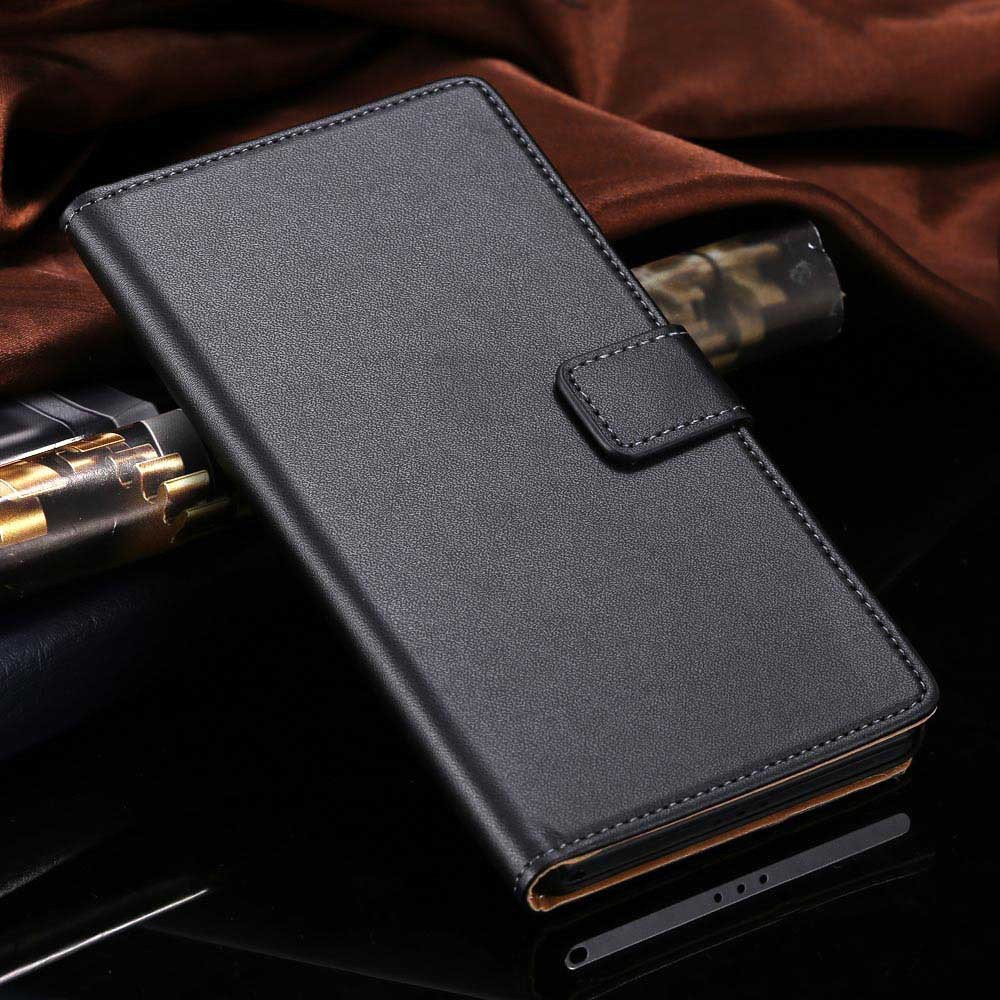 For Xperia Z2 Case Luxury Top Quality Genuine Leather Case For Son 1815119136-1-black