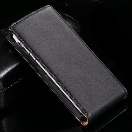 Black Retro Luxury Vertical Flip Genuine Leather Case For Sony Eri 32288022411-1-Black