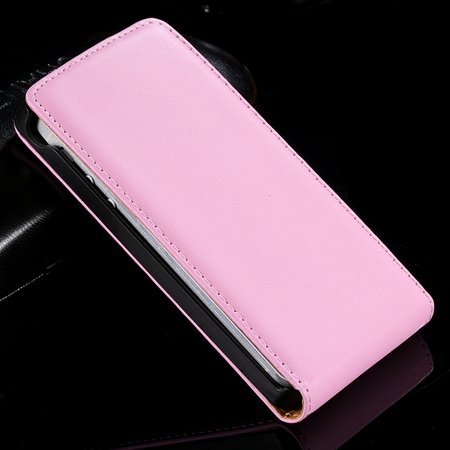 Black Retro Luxury Vertical Flip Genuine Leather Case For Sony Eri 32288022411-3-Pink