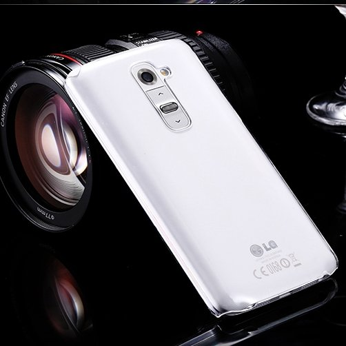 For Optimus G2 Hard Back Case Clean Glass Crystal Transparent Case 32286835559-1-Clear