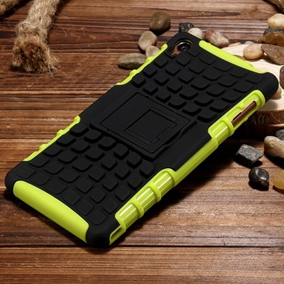 Z3 Case Retro Cool Luxury Slip-Proof Kick-Stand Armor Case For Son 32270150376-2-Green