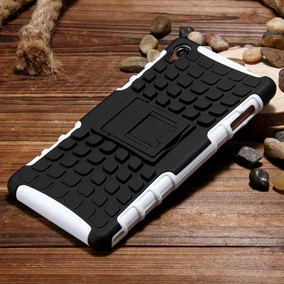 Z3 Case Retro Cool Luxury Slip-Proof Kick-Stand Armor Case For Son 32270150376-8-White