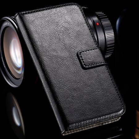 For Xperia M2 Wallet Case Retro Luxury Pu Leather Case For Sony Xp 32278609853-1-Black