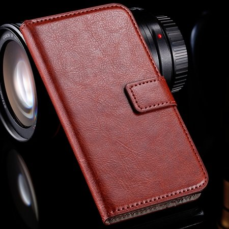 For Xperia M2 Wallet Case Retro Luxury Pu Leather Case For Sony Xp 32278609853-2-Brown