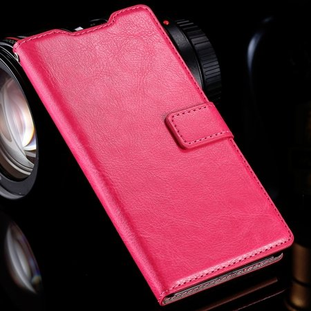 For Sony Z3 Wallet Case Luxury Pu Leather Case For Sony Xperia Z3  32279708125-1-Hot Pink
