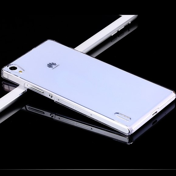 For Ascend P7 Glossy Transparent Back Cover Case For Huawei Ascend 32288604083-1-Clear