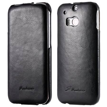 M8 Leather Case Luxury Retro Pu Vertical Flip Leather Case For Htc 32267795808-1-Black