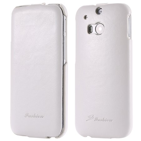 M8 Leather Case Luxury Retro Pu Vertical Flip Leather Case For Htc 32267795808-2-White