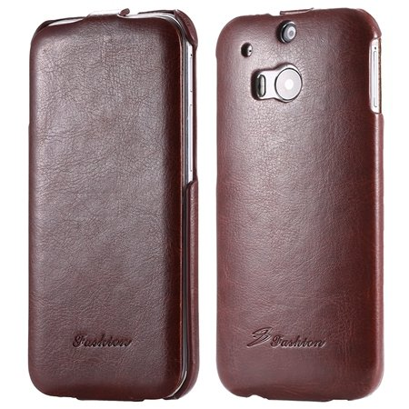 M8 Leather Case Luxury Retro Pu Vertical Flip Leather Case For Htc 32267795808-6-Brown