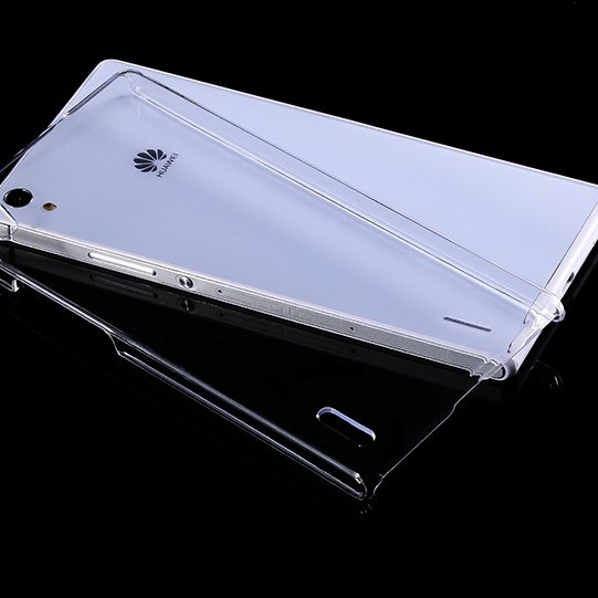 P7 Clear Case Cool Simple Hard Plastic Transparent Case For Huawei 32287707330-1-Clear
