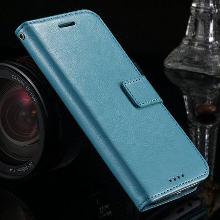 M8 Wallet Case Vintage Luxury Leather Case For Htc One M8 Flip Cel 32267497560-4-Blue