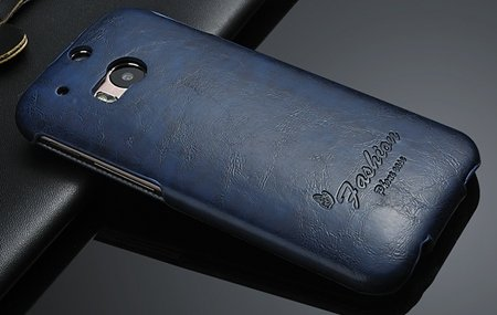 M8 Case Soft Feeling Wax Pu Leather Case For Htc One M8 Flip Cell  32267803160-3-Blue