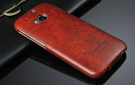 M8 Case Soft Feeling Wax Pu Leather Case For Htc One M8 Flip Cell  32267803160-5-Brown