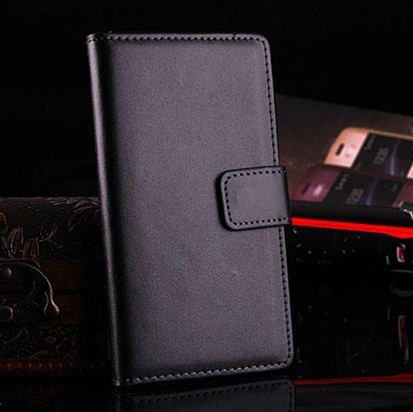 For Xperia L36H Case Korean Flip Style Genuine Leather Case For So 1788463912-1-black