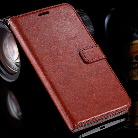 For Nexus 6 Leather Case Retro Cool Top Quality Pu Leather Wallet  32278149893-5-Brown