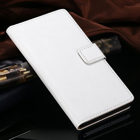 Z2 Leather Case Brown Luxury Pu Wallet Leather Case For Sony Xperi 32267464565-2-White