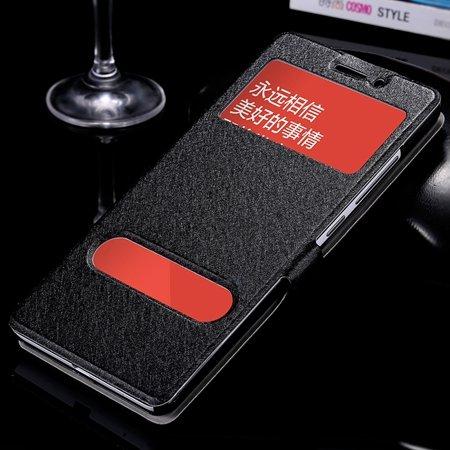 Luxury Soft Silk Pu Leather Case For Xiaomi Redmi Note Smart Windo 32283770203-1-Black