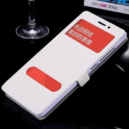 Luxury Soft Silk Pu Leather Case For Xiaomi Redmi Note Smart Windo 32283770203-2-Sliver