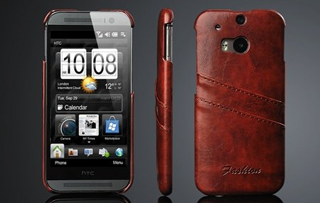 M8 Case Black Retro Luxury Wax Glossy Pu Leather Case For Htc One  2047286840-1-Brown