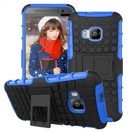 M9 Hard Case Luxury Pc + Tpu Hybird Armor Case For Htc One M9 Rugg 32297666464-4-Blue