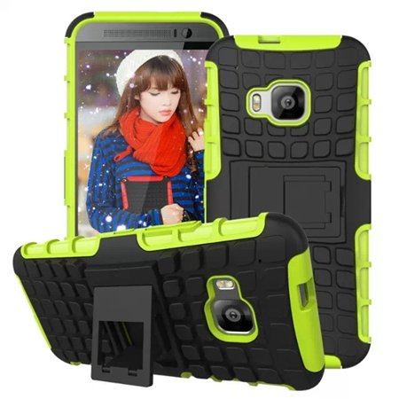 M9 Hard Case Luxury Pc + Tpu Hybird Armor Case For Htc One M9 Rugg 32297666464-5-Green