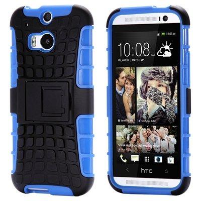 Retro Luxury Hard Pc + Soft Silicone Hybrid Case For Htc One M8 Ki 32294277993-4-Blue