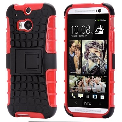 Retro Luxury Hard Pc + Soft Silicone Hybrid Case For Htc One M8 Ki 32294277993-5-Red