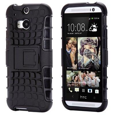Retro Luxury Hard Pc + Soft Silicone Hybrid Case For Htc One M8 Ki 32294277993-7-Black