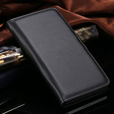 For Xperia Z2 Stand Wallet Case Vintage Luxury Plain Pu Leather Ca 32271440290-1-Black