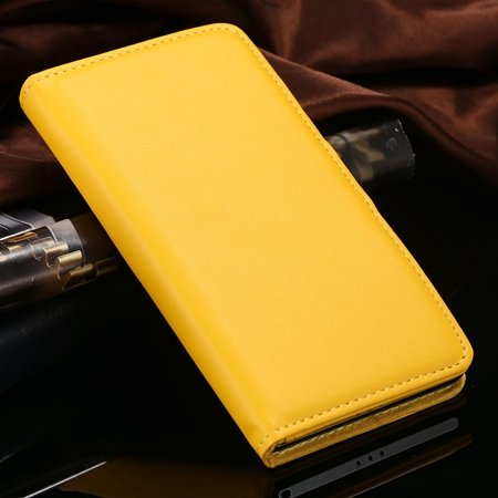 For Xperia Z2 Stand Wallet Case Vintage Luxury Plain Pu Leather Ca 32271440290-6-Yellow