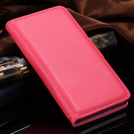 For Xperia Z2 Stand Wallet Case Vintage Luxury Plain Pu Leather Ca 32271440290-9-Hot Pink