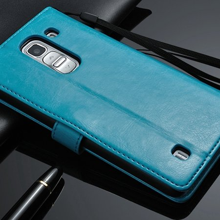 G2 Retro Luxury Pu Flip Leather Case For Lg G2 Optimus D801 Wallet 32283684355-4-Blue