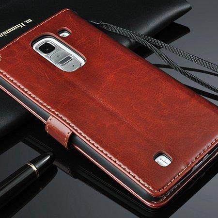 G2 Retro Luxury Pu Flip Leather Case For Lg G2 Optimus D801 Wallet 32283684355-6-Brown
