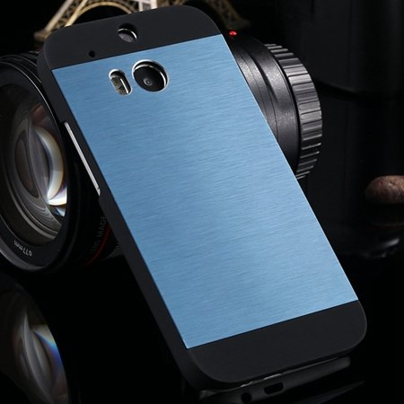 Deluxe Retro Aluminum Metal Case For Htc One M8 Electroplate Chrom 1927099860-2-dark navy