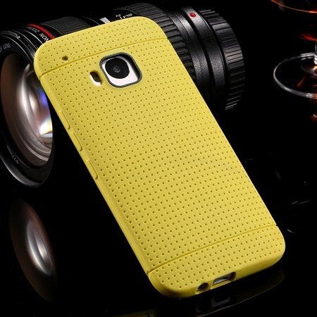 M9 Case Cute Polka Dot Silicone Soft Case For Htc One M9 Handy Sim 32305722338-5-Yellow