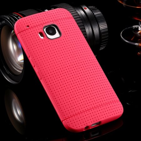 M9 Case Cute Polka Dot Silicone Soft Case For Htc One M9 Handy Sim 32305722338-6-Hot Pink
