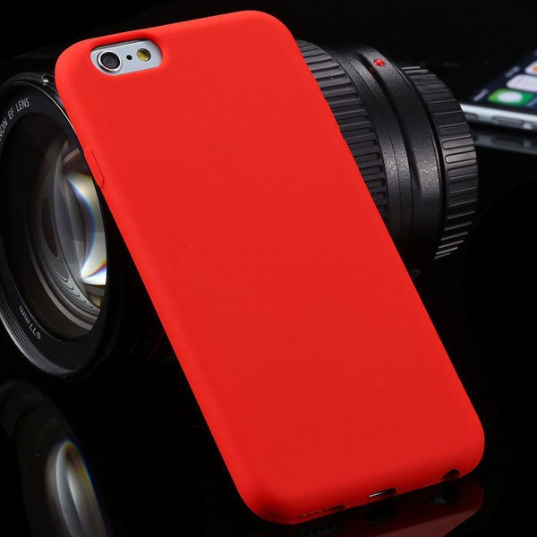 Ultra Thin Soft Silicone Cover For Iphone 6 4.7Inch Back Phone Hou 2053591358-6-red
