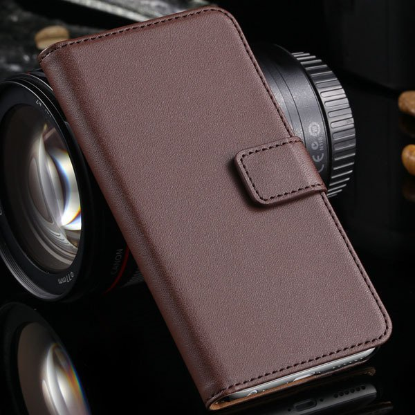 Advancest Genuine Leather Cover For Iphone 6, 4.7'' Case Flip Open 2012272802-4-brown