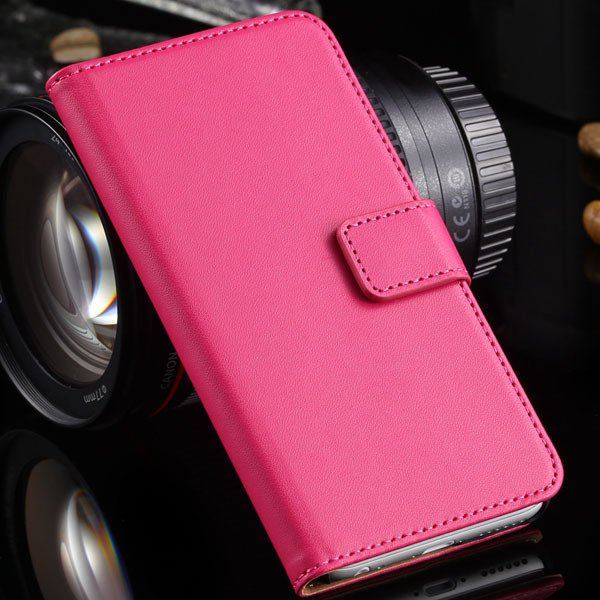 Advancest Genuine Leather Cover For Iphone 6, 4.7'' Case Flip Open 2012272802-5-hot pink