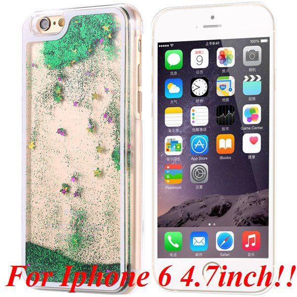 I6/6+ Glitter Quicksand Clear Case For Iphone 6 4.7Inch/5.5Inch Pl 32277057350-3-green for iphone 6