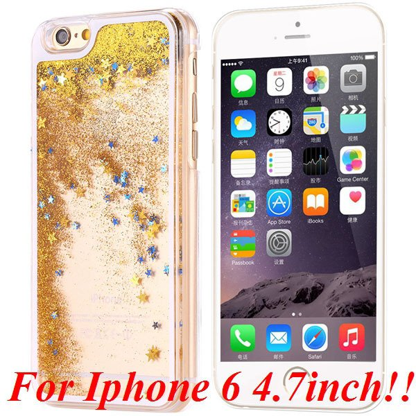 I6/6+ Glitter Quicksand Clear Case For Iphone 6 4.7Inch/5.5Inch Pl 32277057350-4-yellow for iphone 6