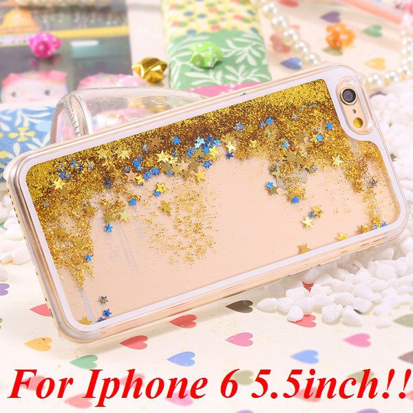 I6/6+ Glitter Quicksand Clear Case For Iphone 6 4.7Inch/5.5Inch Pl 32277057350-9-yellow for plus