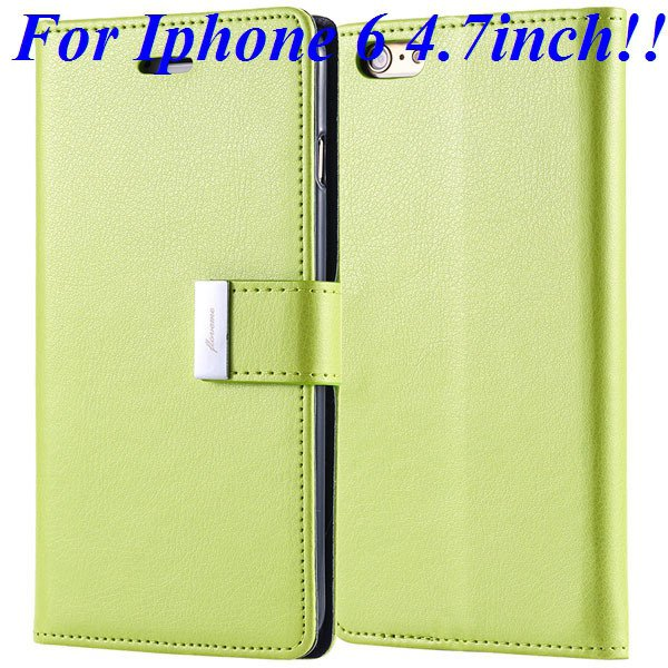 I6/6 Plus Luxury Original Brand Case Pu Leather Cover With Card Ba 32275986058-5-green for iphone 6