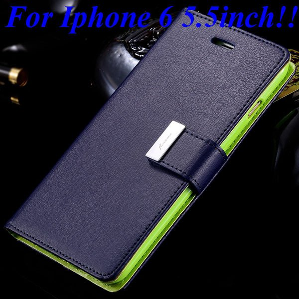 I6/6 Plus Luxury Original Brand Case Pu Leather Cover With Card Ba 32275986058-10-blue for plus