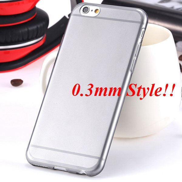 Latest Flexible Soft High Transparent Case For Iphone 6 4.7'' Clea 2042995313-2-Thin black
