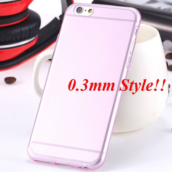 Latest Flexible Soft High Transparent Case For Iphone 6 4.7'' Clea 2042995313-7-Thin pink