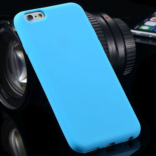 Super Soft Silicone Case For Iphone 6 4.7Inch Back Phone Cover Wit 2053581939-8-sky blue