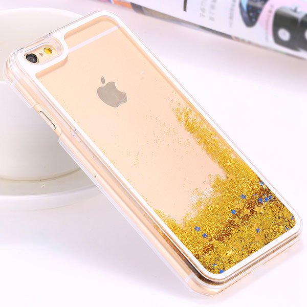 I6 Plus Flow Liquid Sand Glitter Quicksand Back Case For Iphone 6  32278056572-6-star yellow